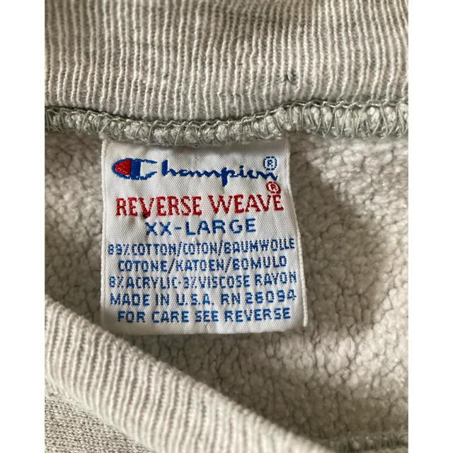 Champion(チャンピオン)の90s チャンピオン USA製 リバースウィーブ xxl 刺繍タグ スウェット メンズのトップス(スウェット)の商品写真