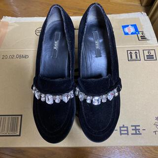 アールアンドイー(R&E)のR&E ビジュー付き厚底ローファー(ローファー/革靴)