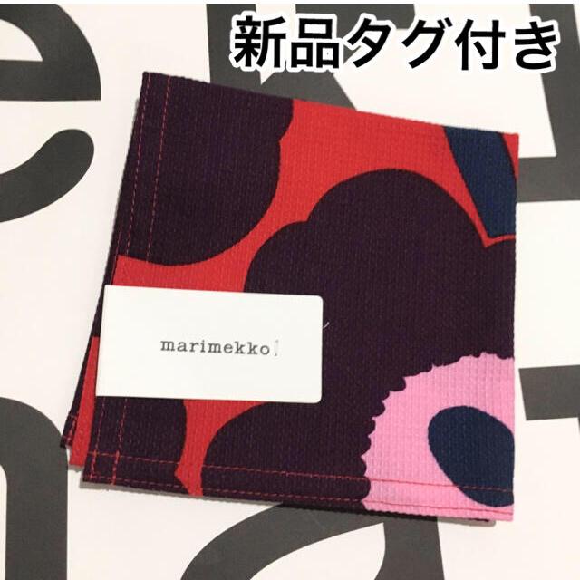 marimekko(マリメッコ)の新品 タグ付き マリメッコ ウニッコ ハンカチ レディースのファッション小物(ハンカチ)の商品写真