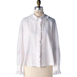 Drawer - 新品タグ付き Scye PIN TUCK SHIRT フリルシャツ ブラミンク