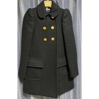 ミュウミュウ(miumiu)のMIUMIU パフスリーブ 金ボタン コート ブラック(その他)