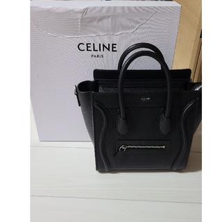 celine - CELINE ラゲージナノ ブラック