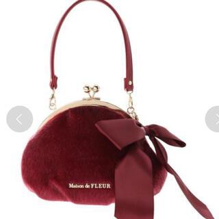 メゾンドフルール(Maison de FLEUR)の更に値下げMaison de FLEUR フェイクハラコがまぐちポーチ (ハンドバッグ)