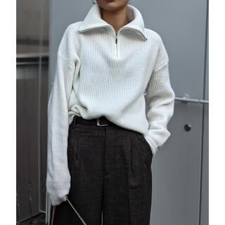Ameri VINTAGE - ACLENT Half zip volume collar knit