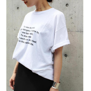DEUXIEME CLASSE - HOMBRE NINO バックプリントLIFE Tシャツ