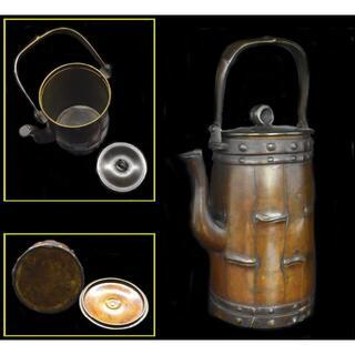 古銅 急須 茶壺 湯沸 稀少 唐物 歴史 年代保証 煎茶道具 骨董WWST038(金属工芸)