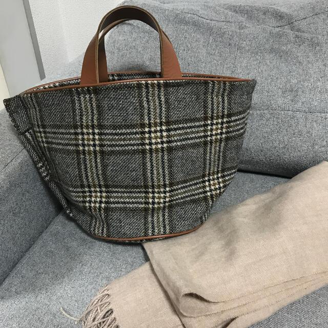 LUDLOW(ラドロー)のLUDLOW ラドロー チェック柄バッグ  レディースのバッグ(トートバッグ)の商品写真
