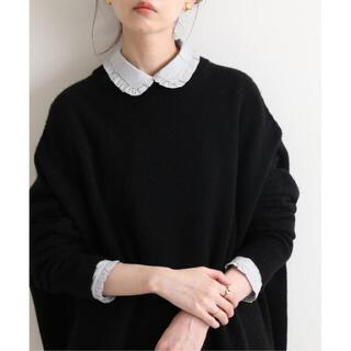 IENA - IENA イエナ  フリルカラーシャツブラウス☆ネイビー☆新品