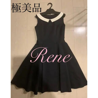 ルネ(René)の【専用】Rene 白襟 ワンピース 36 フォクシー Foxey(ひざ丈ワンピース)