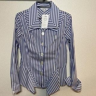 ナラカミーチェ(NARACAMICIE)のナラカミーチェ Ⅱ ブルーストライプストレッチデザインシャツ(シャツ/ブラウス(長袖/七分))
