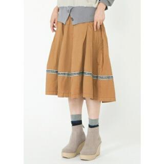 メルシーボークー(mercibeaucoup)のメルシーボークー meribeaucoup  S メルミリ スカート ベージュ(ひざ丈スカート)