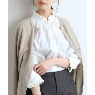 IENA - IENA イエナ  コットンフリルシャツブラウス☆ホワイト ☆新品