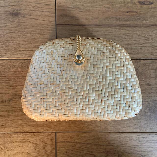Lochie(ロキエ)の古着屋購入 ヴィンテージラタンチェーンショルダーバッグ レディースのバッグ(ショルダーバッグ)の商品写真