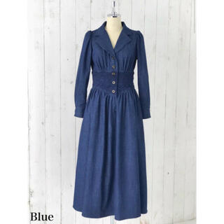 snidel - 【Her lip to】Lace Belted Denim Dress