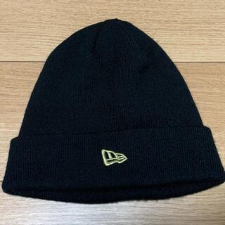 ニューエラー(NEW ERA)のNEW ERA ニューエラ ビーニー ロゴ gold(ニット帽/ビーニー)
