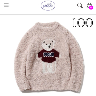 gelato pique - ジェラートピケ◆美品✨2020クリスマス限定ベアー ニット 90-100