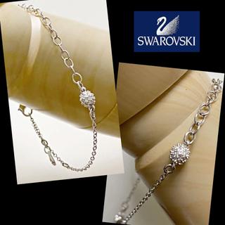 SWAROVSKI - ◆SWAROVSKIストーン入りシルバーカラーブレスレット☆