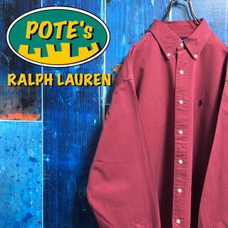 Ralph Lauren - 【ラルフローレン】ワンポイント刺繍ロゴビッグチノボタンダウンシャツ 90s
