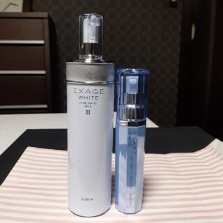 ALBION - 【残量9割以上】アルビオン エクサージュホワイトミルクⅡ200g・ 美容液セット