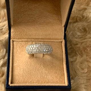 豪華⭐️ K18WG パヴェダイヤリング ダイヤモンド1.00ct 10号
