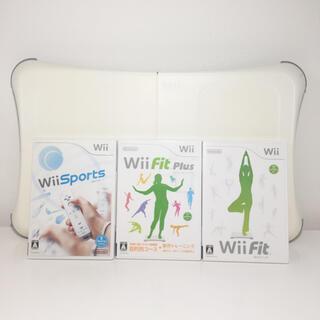 ウィー(Wii)のwii fit、plus、wii sports バランスボード 4点セット(家庭用ゲーム機本体)
