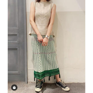 mame - ●mamekurogouchi ジャガードフリンジ ニットスカート