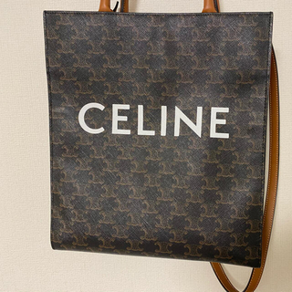 celine - 【美品】Celineトリオンフキャンバス バーティカル カバ バッグ
