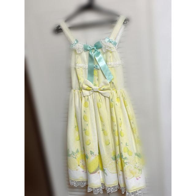 Angelic Pretty(アンジェリックプリティー)のAngelic Pretty fruity lemon ジャンパースカート レディースのワンピース(ひざ丈ワンピース)の商品写真