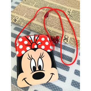 ディズニー(Disney)のディズニー ミニーマウス パスケース チケットホルダー 小銭入れ コインケース(パスケース/IDカードホルダー)