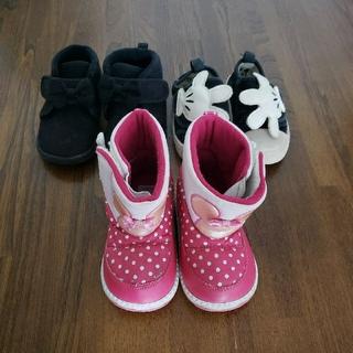 ディズニー(Disney)の14cm 女の子 ブーツ スニーカー 靴 3足セット ディズニー(スニーカー)