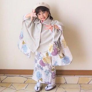 ♡新作♡ utatane ウタタネ ひよこ商店 七五三 753 3歳 着物 被布(和服/着物)
