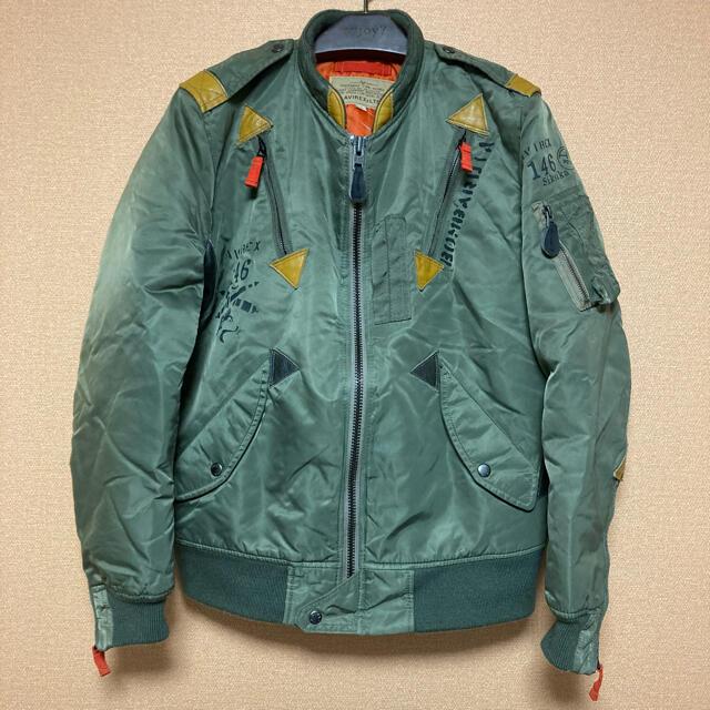AVIREX(アヴィレックス)のAVIREX L-2 フライトジャケット タイトシルエット MA-1 メンズのジャケット/アウター(フライトジャケット)の商品写真