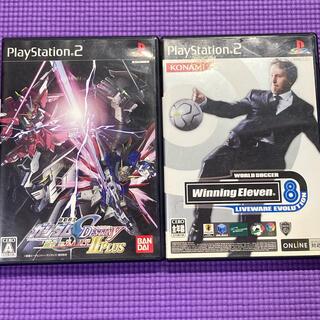 プレイステーション2(PlayStation2)のps2ソフトセット ガンダム&ウイニングイレブン8(家庭用ゲームソフト)