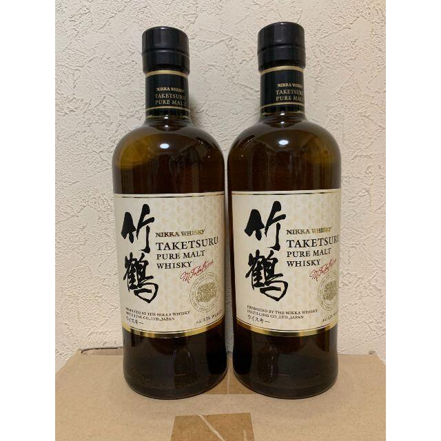 アサヒ(アサヒ)の竹鶴ピュアモルト【限定品】2本 食品/飲料/酒の酒(ウイスキー)の商品写真