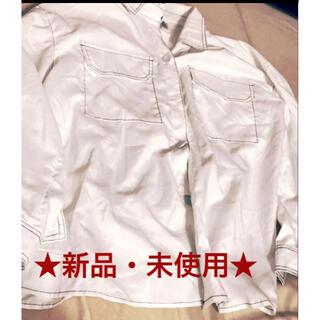 ★新品・未使用★白シャツ 胸ポケット おしゃれ