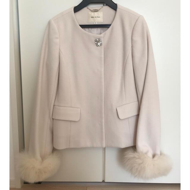 Debut de Fiore(デビュードフィオレ)のDebut de Fiore♡ノーカラーショートコート レディースのジャケット/アウター(毛皮/ファーコート)の商品写真