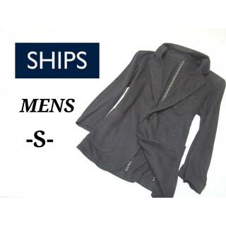 シップス(SHIPS)のメンズS◇SHIPS◇7分袖ストレッチテーラードジャケット 黒(テーラードジャケット)