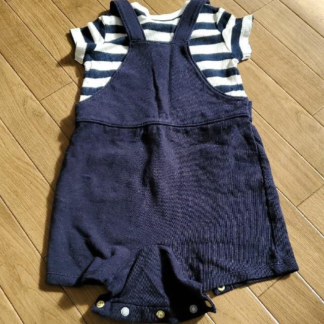 UNIQLO(ユニクロ)のユニクロ半袖ロンパース キッズ/ベビー/マタニティのベビー服(~85cm)(ロンパース)の商品写真