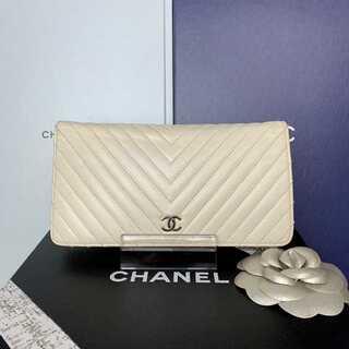 シャネル(CHANEL)の正規品✨シャネル Vステッチ 二つ折り長財布(財布)