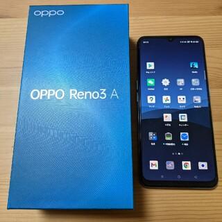 オッポ(OPPO)のSIMフリー OPPO Reno3A 128GBホワイト(スマートフォン本体)