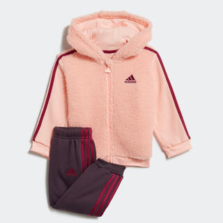 アディダス(adidas)のアディダス ファー フルジップ フード付きジョガーセット(その他)