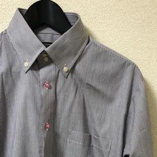 【美品】ストライプ ボタンダウンシャツ