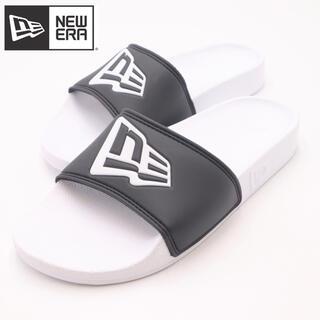 NEW ERA - 新品 未使用 ニューエラ NEWERA シャワーサンダル  黒×白