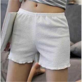 ふんわり柔らか見えてもかわいい!ドレープペチコートパンツ【ホワイトM】(ショートパンツ)