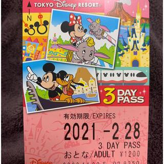 ディズニー(Disney)のリゾートライン 3days 未使用 大人一枚(遊園地/テーマパーク)