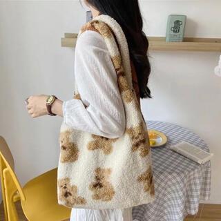韓国こども服 新品未使用 モコモコクマさんトートバッグ(トートバッグ)