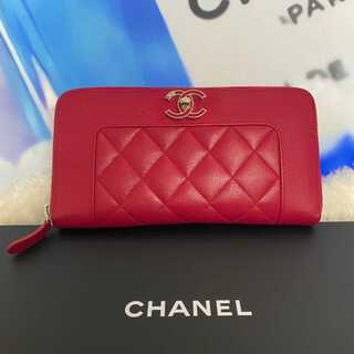 シャネル(CHANEL)の超極美品✨シャネル マドモアゼル ラウンドジップ 長財布 (財布)