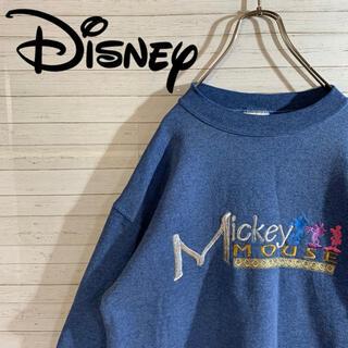 Disney - 【Disney】90s 希少 Mickey ミッキー 刺繍デザイン スウェット