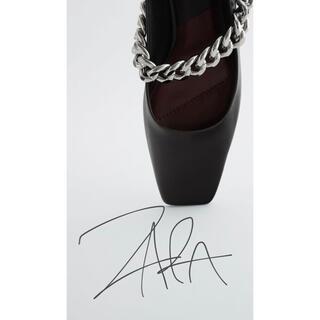 ザラ(ZARA)の週末限定お値下げ‼︎ZARA チェーンディテール  フラットバレエ 新品(バレエシューズ)