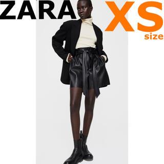 ザラ(ZARA)の新品未使用【ZARA 】再入荷!XS レザー風バミューダパンツ ショートパンツ(ショートパンツ)